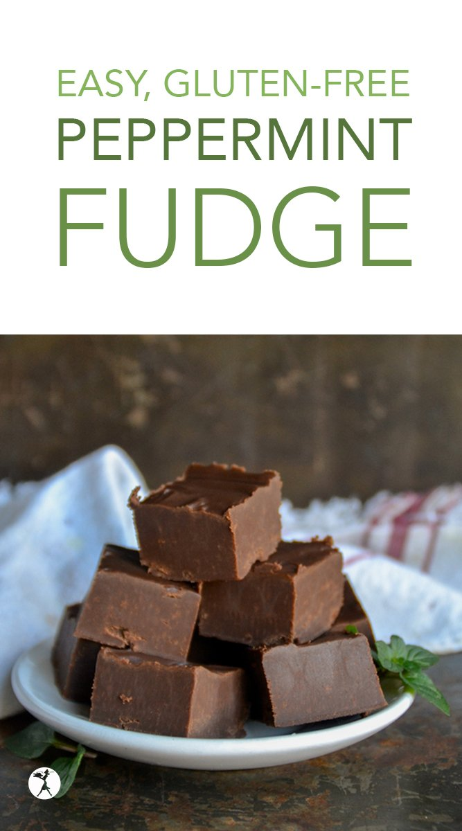 This easy, gluten-free Peppermint Fudge is seriously my favorite fudge ever. To make and to eat. It's naturally grain-free, and only a few ingredients! #fudge #peppermint #mint #glutenfree #eggfree #chocolate #glutenfreedessert