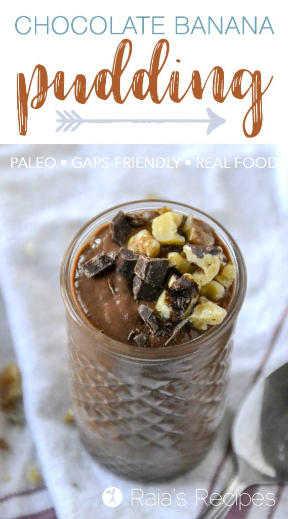 Quick and easy dessert, coming right up in the form of this delicious paleo Chocolate Banana Pudding.