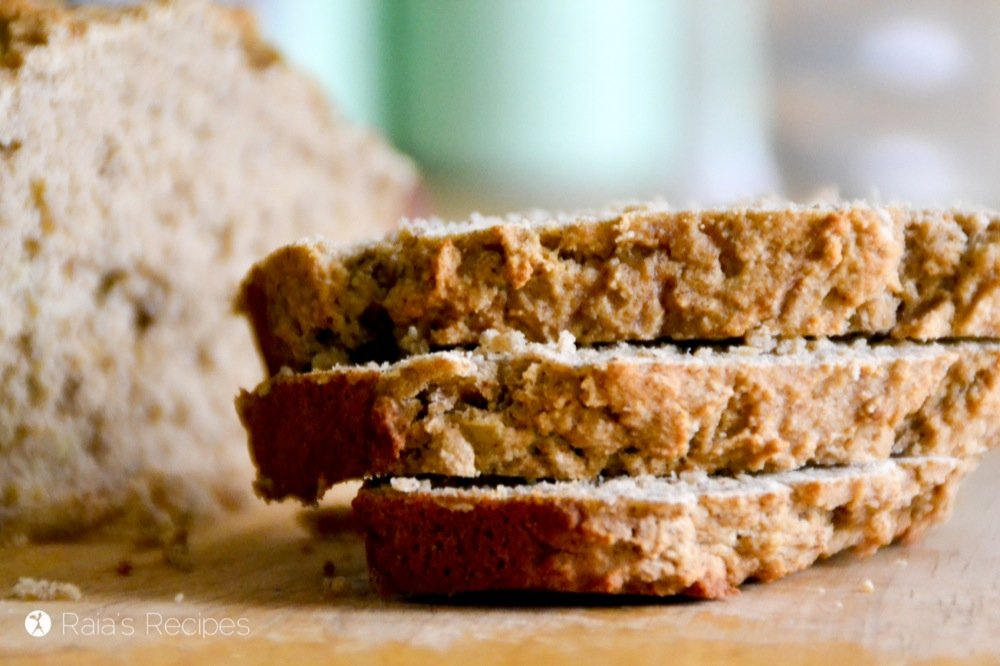 Gluten-Free Applesauce Banana Spice Bread | RaiasRecipes.com