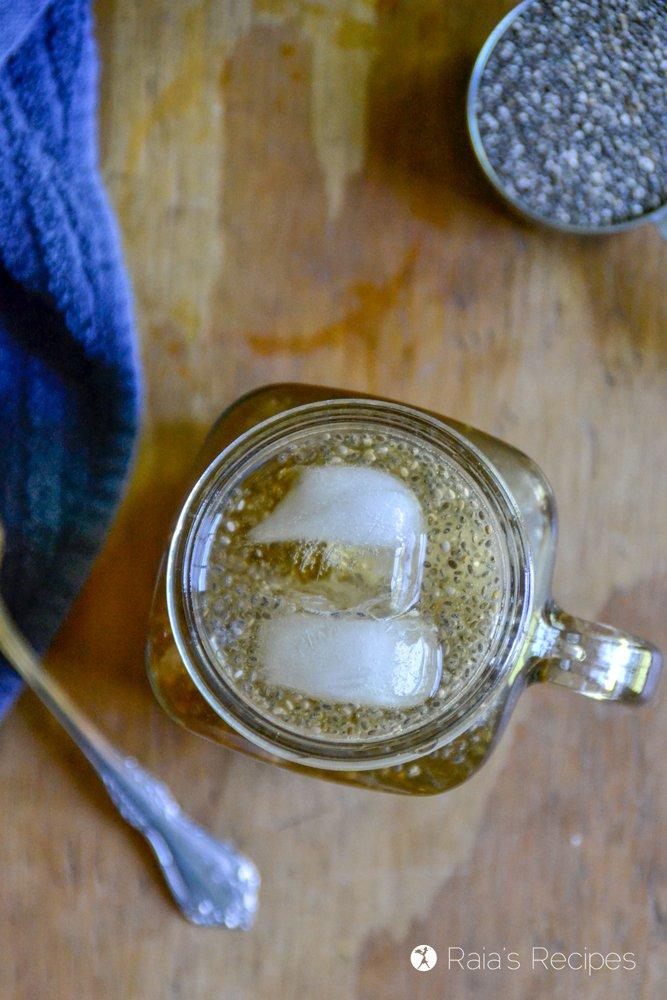 Iced Raspberry Leaf Chia Tea profile top