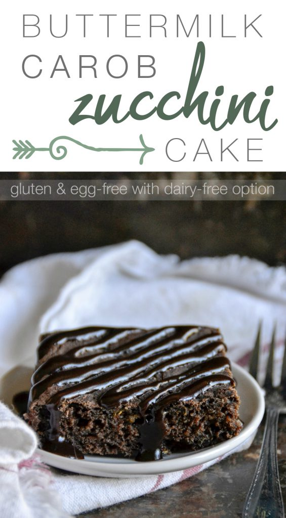 This gluten and egg-free Buttermilk Carob Zucchini Cake is a must-try.   RaiasRecipes.com
