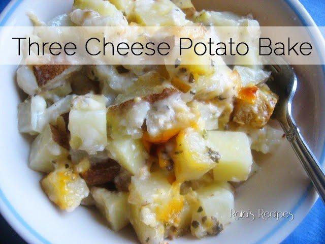 Three Cheese Potato Bake - Raias Recipes