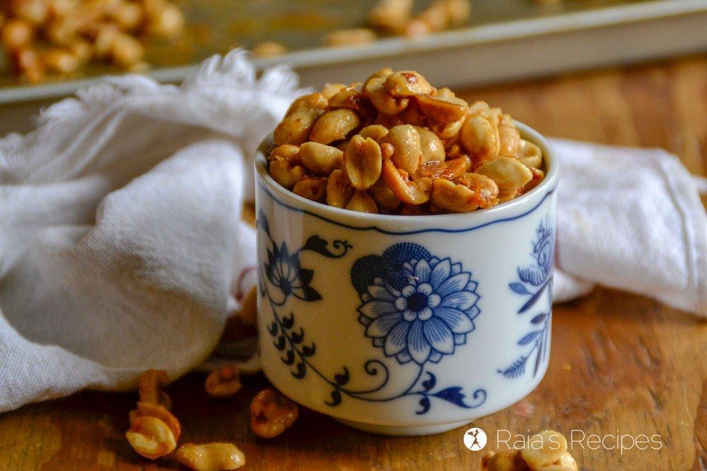 Homemade Honey Roasted Peanuts side