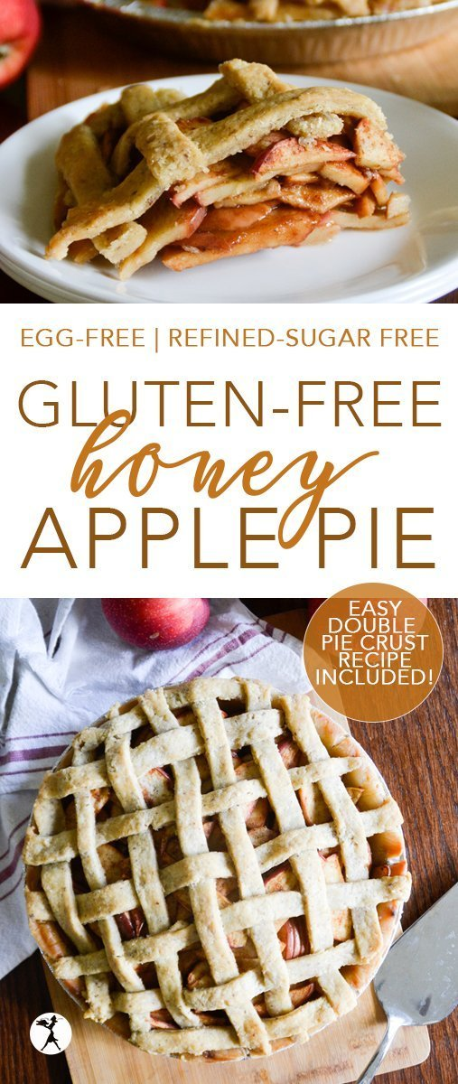 This easy, gluten-free Honey Apple Pie is a winner every fall! It's simple, tasty, and allergy-friendly. Recipe for simple double pie pastry is included! #glutenfree #dairyfree #eggfree #refinedsugarfree #realfood #honey #apples #pie #applepie #glutenfreedessert #glutenfreepie #piecrust #piepastry