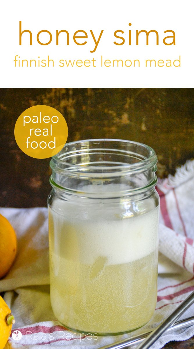 Paleo Honey Sima #paleo #realfood #glutenfree #dairyfree #refinedsugarfree #drinks #healthydrinks #mead #sima #honey #lemon #frementedfood #traditionalfood