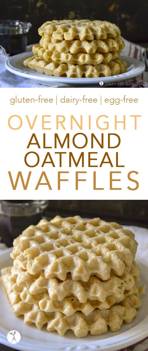 Easy and delicious, these Overnight Almond Oatmeal Waffles are a wonderful way to introduce you to the wonderful world ofsoaked grains! #waffles #glutenfree #realfood #vegan #dairyfree #eggfree #almond #oatmeal