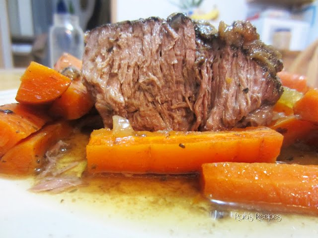 Easy Marinated Slow Cooker Roast with Caramelized Onions