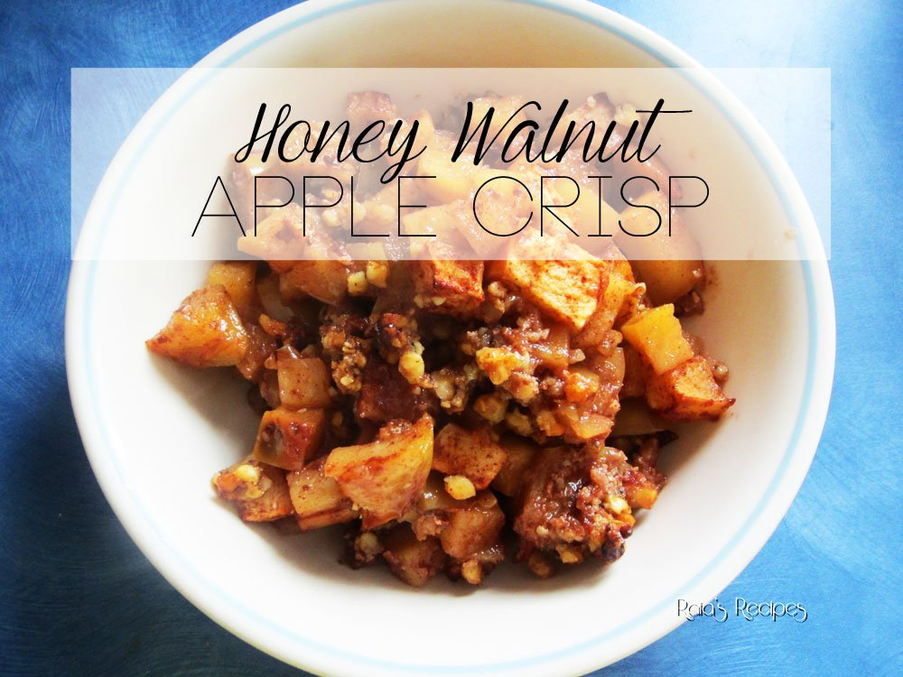 Honey Walnut Apple Crisp | grain-free, dairy-free, refined sugar-free | RaiasRecipes.com