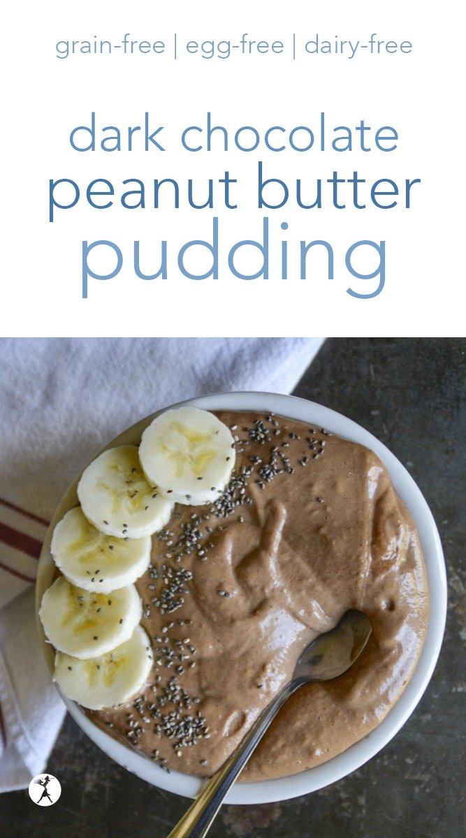 Enjoy your dessert for breakfast with this decadent and healthy Dark Chocolate & Peanut Butter Pudding! #darkchocolate #primal #gapsdiet #bananas #chocolatepudding #peanutbutter #nutbutter #glutenfree #dairyfree