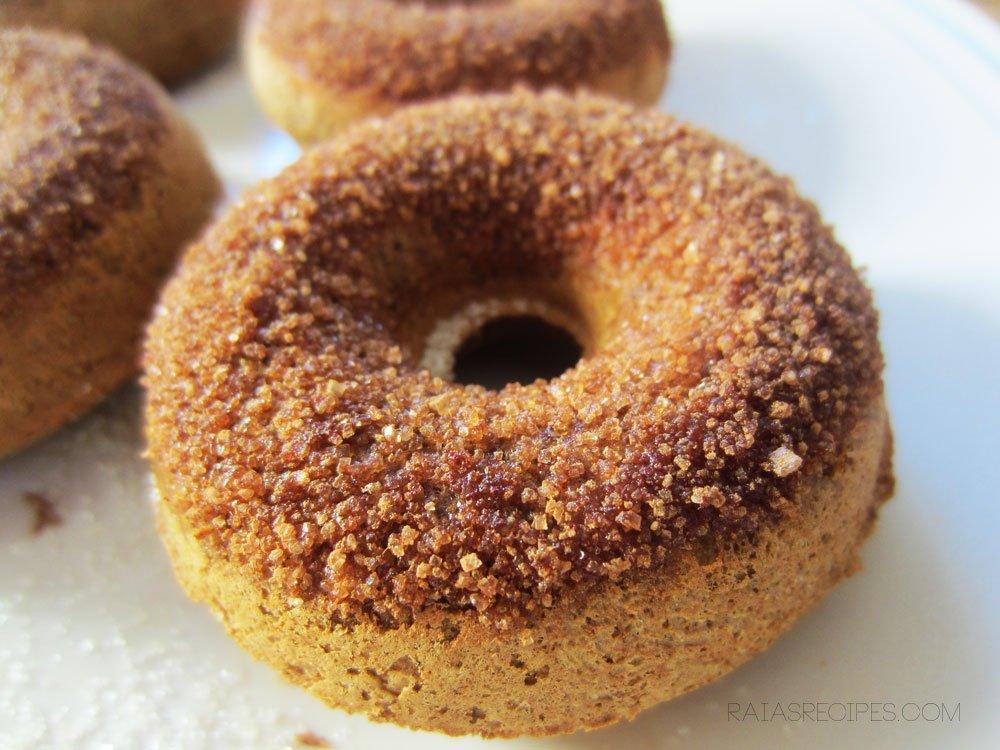 Cinnamon Spice Doughnuts | gluten-free, egg-free, dairy-free | RaiasRecipes.com
