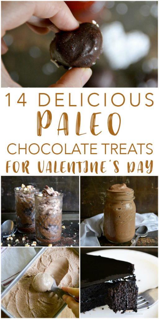 14 delicious, grain-free and refined-sugar free chocolate treats that are perfect for Valentine's Day! Or any day... #paleo #valentinesday #chocolate #treats #dessert #glutenfree #dairyfree #realfood