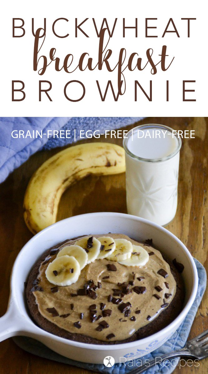 Full of hearty, grain-free flour and sweetened with fruit, this allergy-friendly Buckwheat Breakfast Brownie is the perfect start to your day.