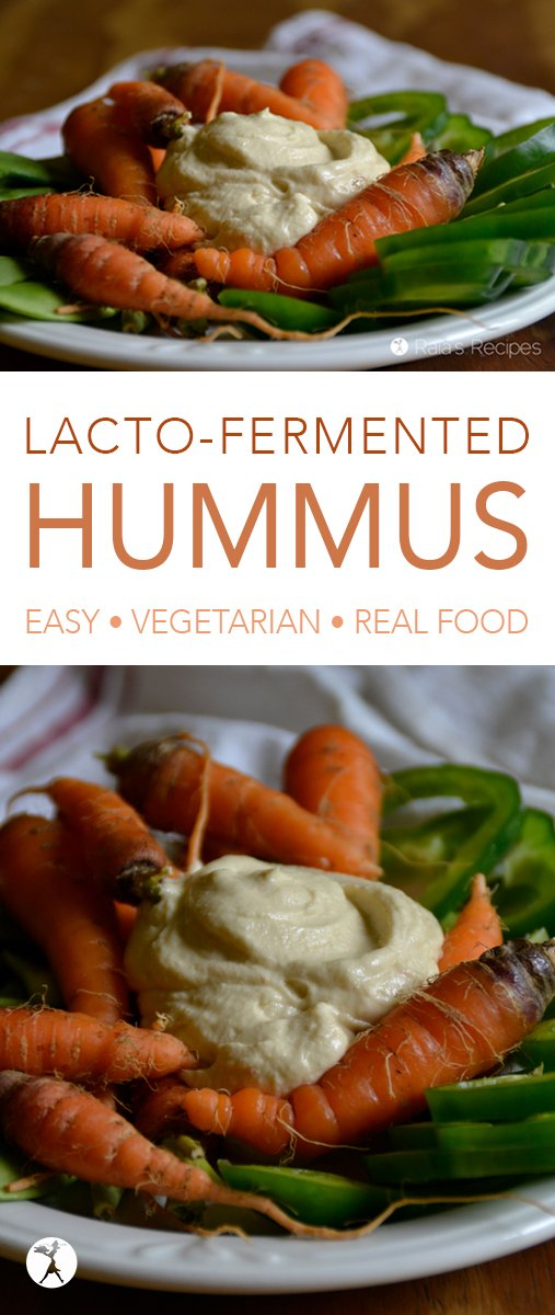 Hummus lover? Into traditional foods? This easy Lacto-Fermented Sprouted Hummus is for you! It's packed full with nutrition and easy to make! #hummus #fermentedfood #realfood #vegetarian #traditionalfood #condiments #sides #garbanzobeans #chickpeas