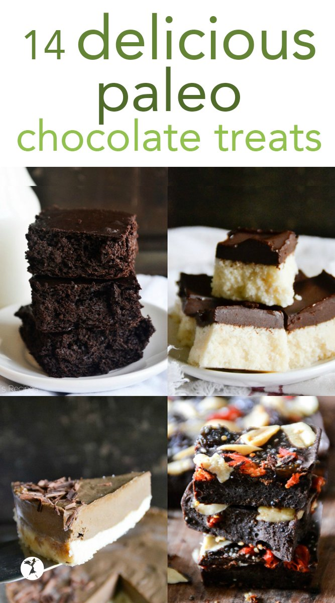 These 14 delicious, grain-free and refined-sugar free chocolate treats that are perfect for and special occasion! #paleo #grainfree #refinesugarfree #dairyfree #dessert #chocolate #treats