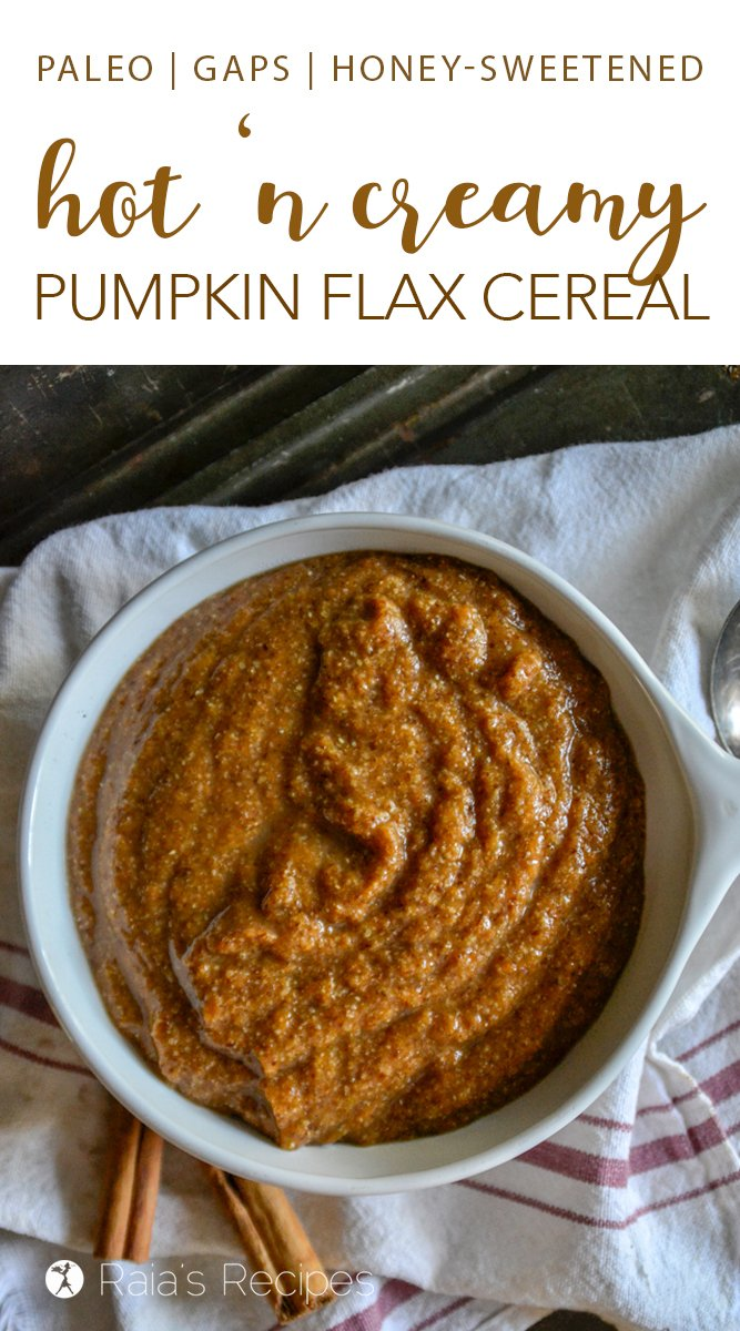Hot 'n Creamy Pumpkin Flax Cereal