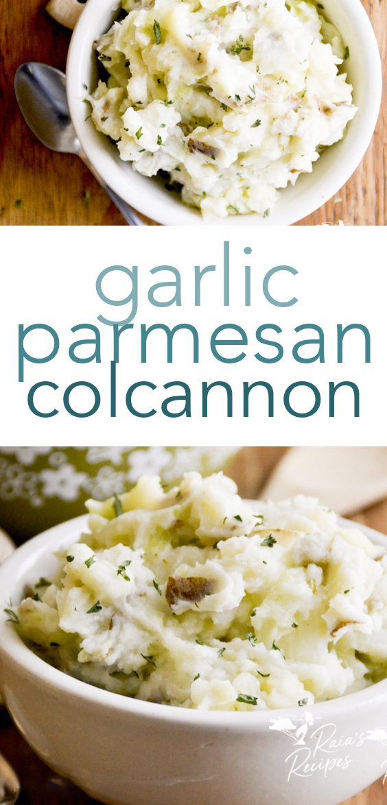 Easy and delicious, this Irish-inspired garlic parmesan colcannon is a great addition to any meal, or even a simple meal in itself! It's naturally gluten-free, and grain-free, too! #irish #colcannon #glutenfree #grainfree #traditional #stpattys #stpatricksday #sidedishes