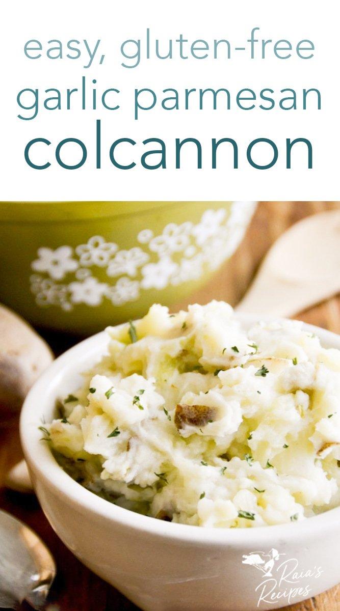 Garlic Parmesan Colcannon #irish #colcannon #glutenfree #grainfree #traditional #stpattys #stpatricksday #sidedishes