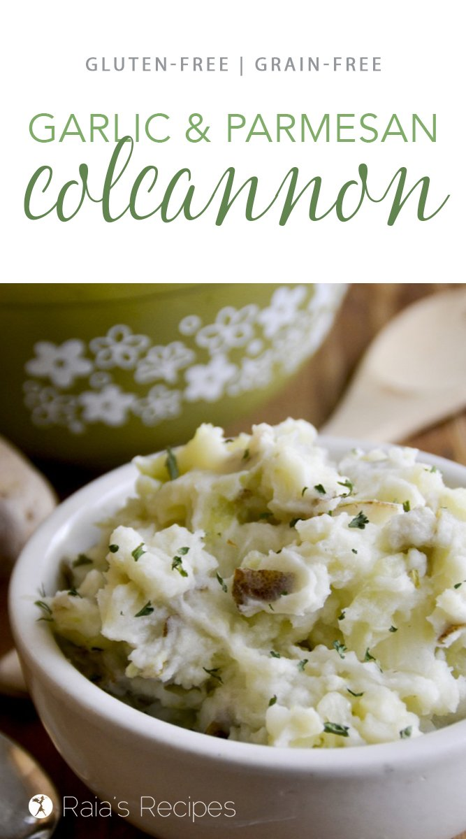 Garlic Parmesan Colcannon #realfood #glutenfree #grainfree #irish #colcannon