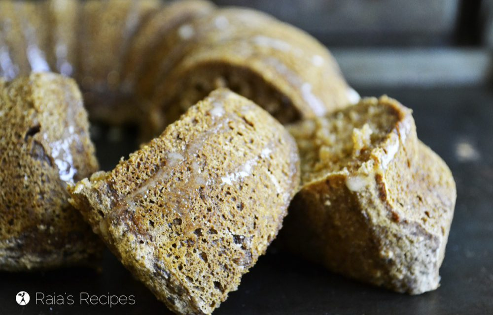 Chewy Spiced Applesauce Cake