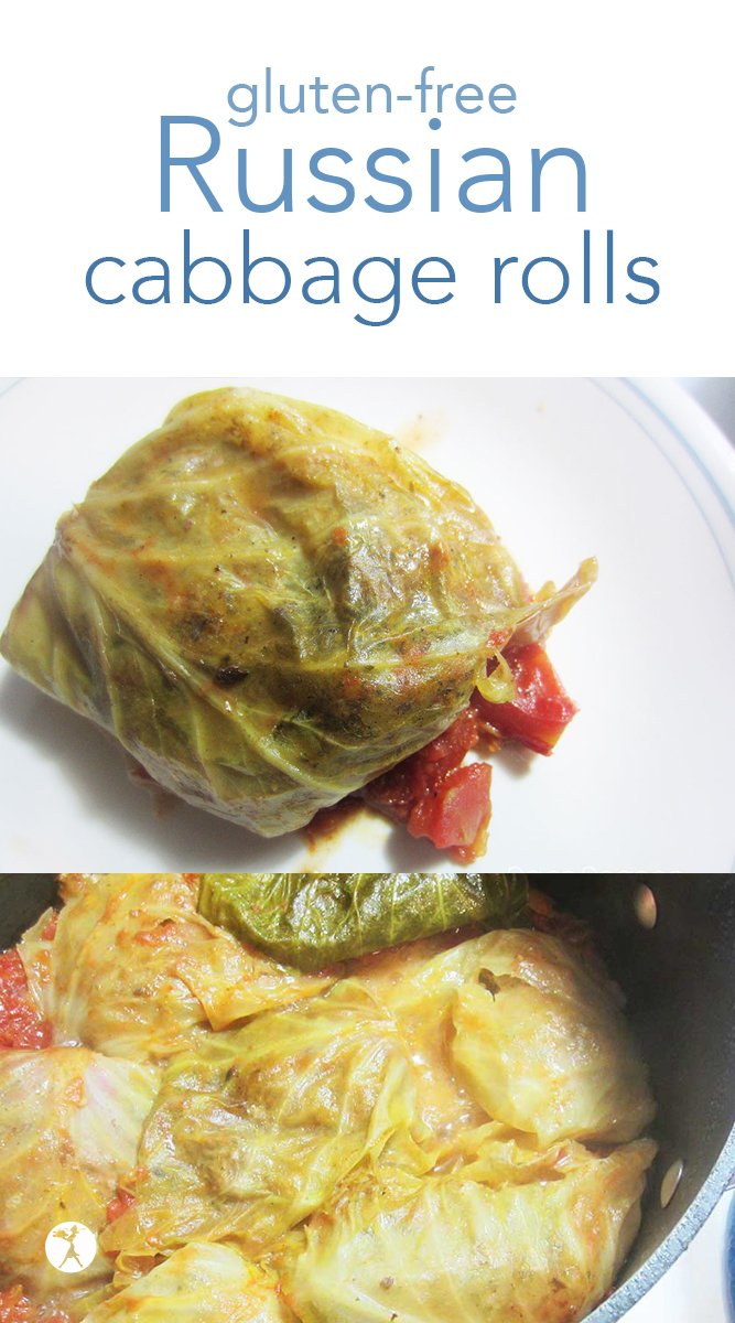 Delicious and nostalgic, these Russian Cabbage Rolls are a filling comfort food. Naturally gluten-free, egg-free, and dairy-free. #russian #cabbagerolls #glutenfree #eggfree #dairyfree