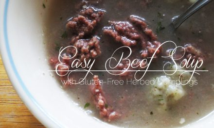 Easy Beef Soup with Herbed Dumplings