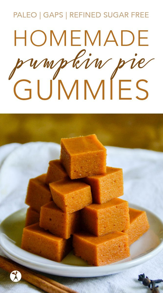 Homemade Pumpkin Pie Gummies #pumpkin #pumpkinpie #gummies #homemade #healthy #gelatin #kosher #paleo #gapsdiet #glutenfree
