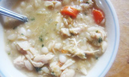 Ginger, White Bean & Chicken Soup