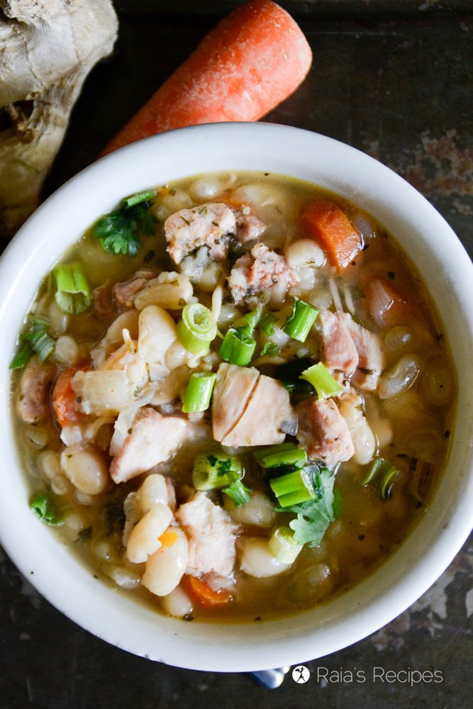 Ginger, White Bean & Chicken Soup from Raia's Recipes