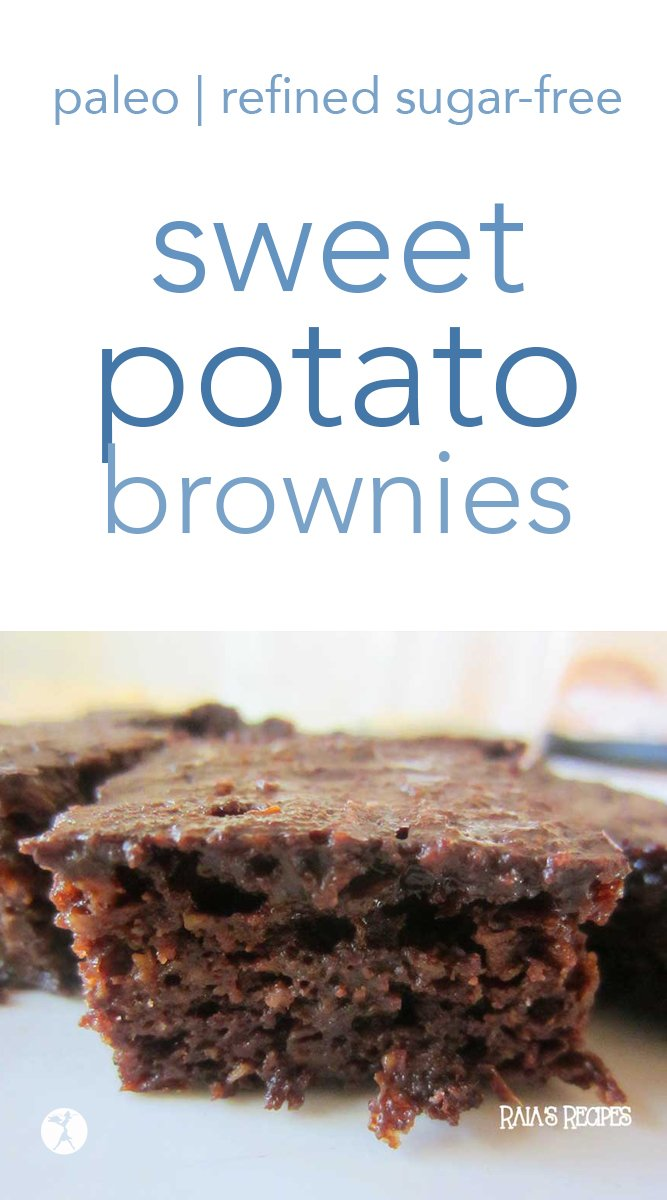 Fluffy and delicious, these sweet potato brownies are a shoo-in for your next favorite paleo brownie! Only sweetened with honey and... sweet potatoes, they're a healthy dessert the whole family will love. #sweetpotato #brownies #paleo #glutenfree