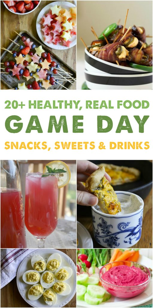 Whether you're a football fan or not, you're sure to enjoy these 20+ gorgeous and delicious gluten-free Super Bowl snacks & sweets. #realfood #glutenfree #superbowl #gameday #healthy #snacks #treats #drinks
