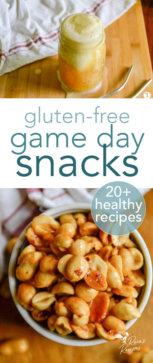 Whether you're a football fan or not, you're sure to enjoy these 20+ gorgeous and delicious gluten-free Super Bowl snacks & sweets. #snacks #treats #glutenfree #gameday #healthy #fingerfood