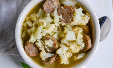 Sage & Sausage Cauliflower Soup