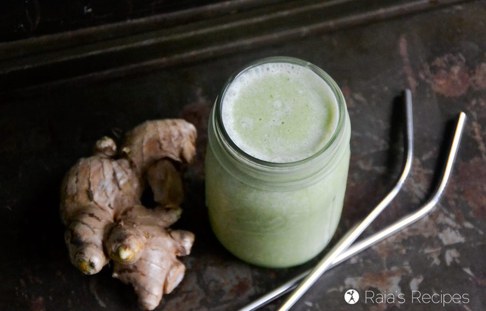 Ginger, Banana & Kale Spring Cleaner Smoothie