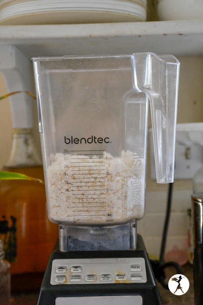 blendtec with coconut flour - content in my kitchen