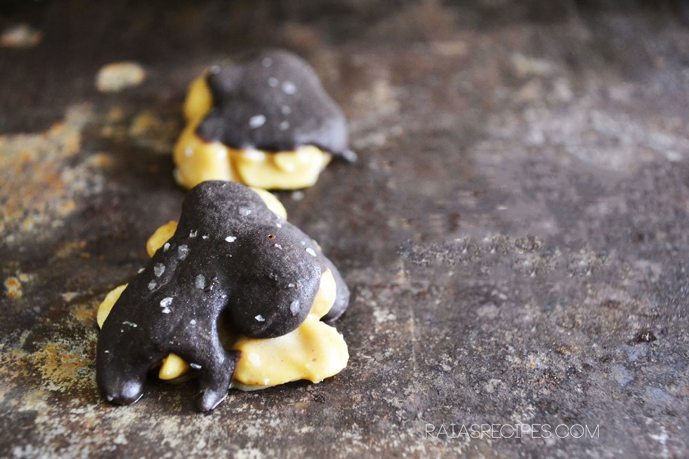 Homemade Peanut Butter Turtles from raiasrecipes.com