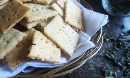 Gluten-Free Garlic & Herb Sourdough Crackers