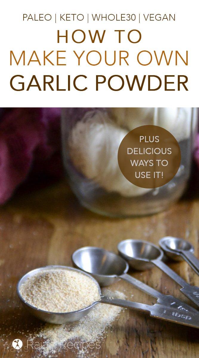 DIY Garlic Powder #glutenfree #diy #realfood #gapsdiet #keto #garlic #whole30