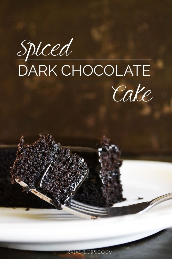 Spiced Dark Chocolate Cake | grain-free, dairy-free, refined sugar-free | RaiasRecipes.com