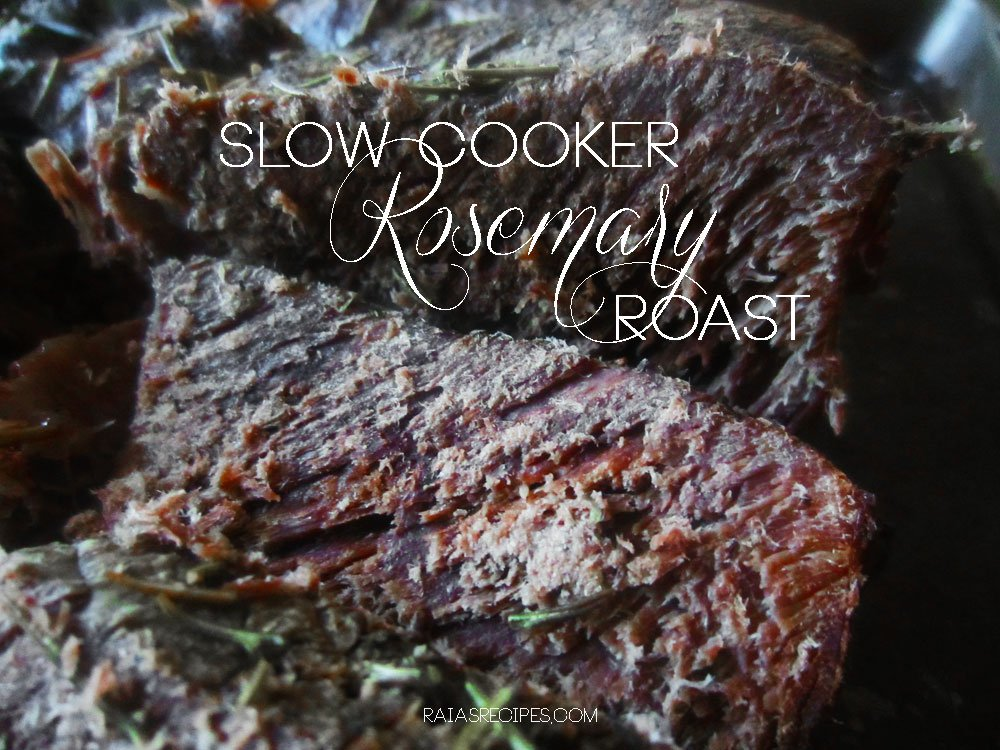 Slow Cooker Rosemary Roast by Raia's Recipes - featured at Natural Family Friday