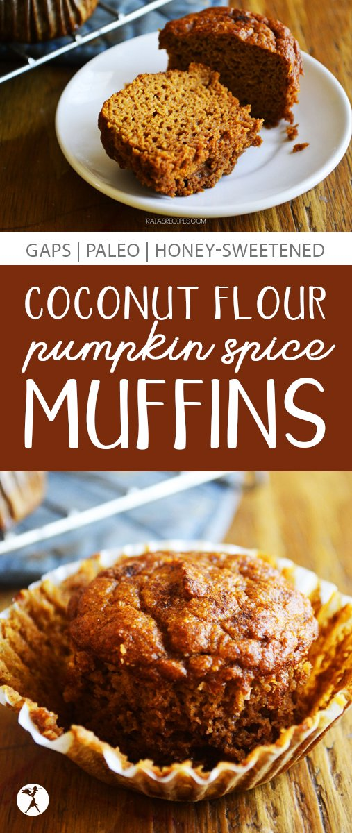 These coconut flour Pumpkin Spice Muffins are perfect for breakfast or a snack. They're paleo and GAPS diet-friendly, too, so you don't have to feel guilty devouring them!