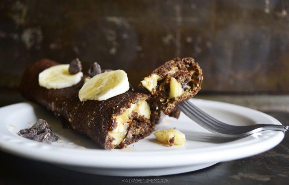 Chocolate Banana Crepes