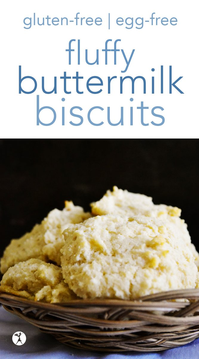 Perfectly fluffy, and perfectly gluten-free, these Fluffy Buttermilk Biscuits will be a hit every time! They're also egg-free and have a dairy-free options, too. #biscuits #buttermilk #glutenfree #eggfree #dairyfreeoption #realfood