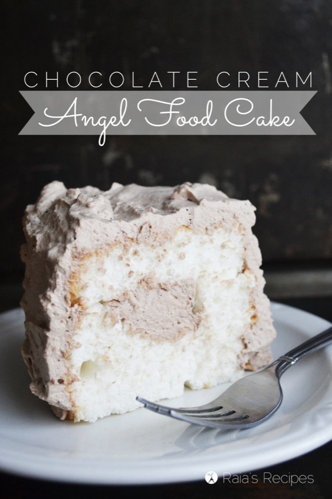 Gluten-Free Chocolate Cream Angel Food Cake   RaiasRecipes.com