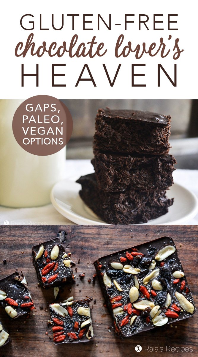 Gluten-Free Chocolate Lover's Heaven #glutenfree #chocolate #paleo #gapsdiet #chocoholic #dessert #realfood