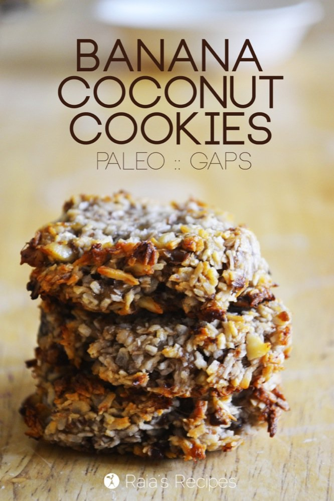 Banana Coconut Cookies | grain-free, gluten-free, dairy-free, egg-free ...