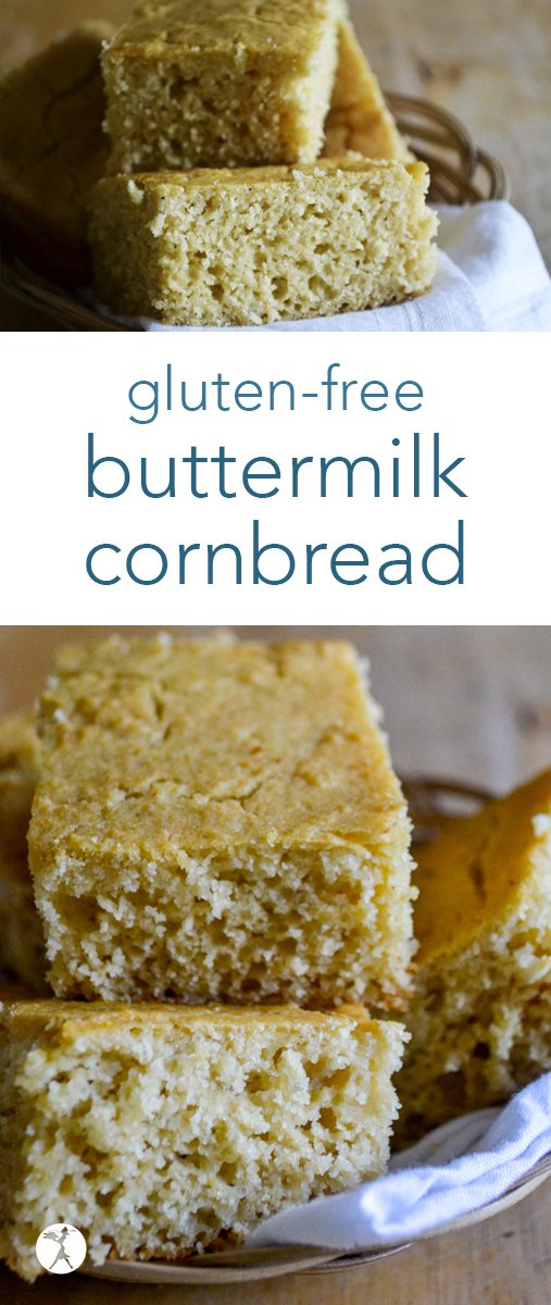 Gluten-free Buttermilk Cornbread that is soft, fluffy, naturally gluten-free, and a perfect side for soups, BBQ, or chili! It only requires a few simple ingredients and you'll be devouring it in no time! #glutenfree #buttermilk #cornbread #southernfood #realfood #dairyfree #bread #sidedish