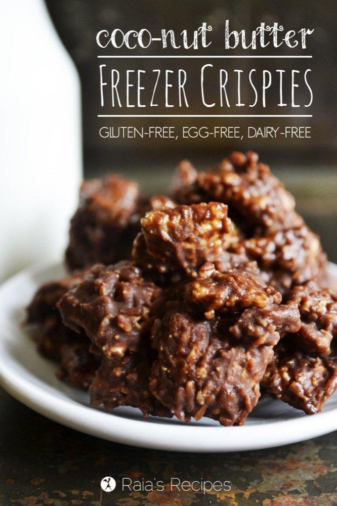 Coco-Nut Butter Freezer Crispies | gluten-free, egg-free, dairy-free | RaiasRecipes.com