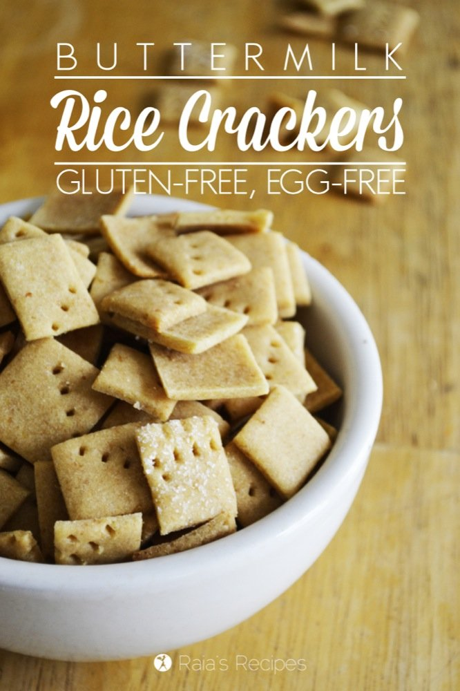 These easy, Gluten-Free Buttermilk Crackers are the perfect replacement snack for all you moms with cracker-loving kids. Or even just the moms who love crackers themselves. #glutenfree #crackers #eggfree #snack