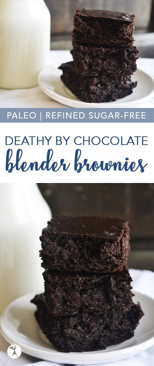 Naturally sweetened with fruit and honey, these paleo Death by Chocolate Blender Brownies are a hit wherever they are served!