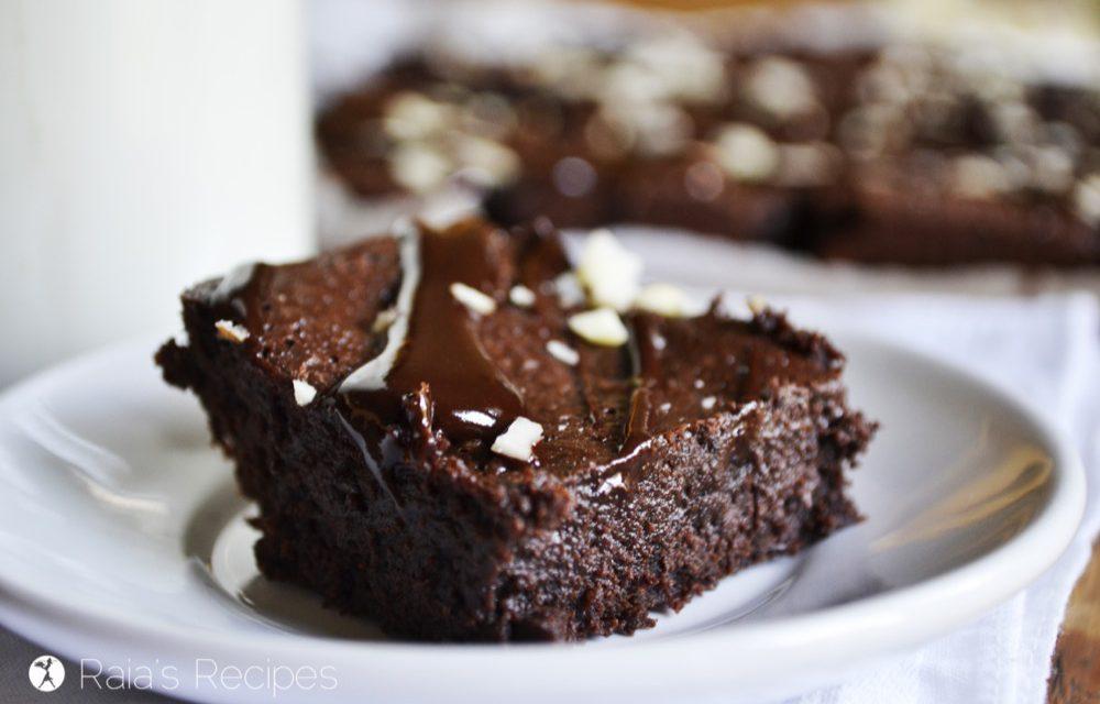 Chocolate Brownies with Chocolate Ganache